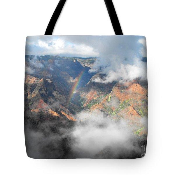 Waimea Canyon Rainbow Tote Bag by Rebecca Margraf