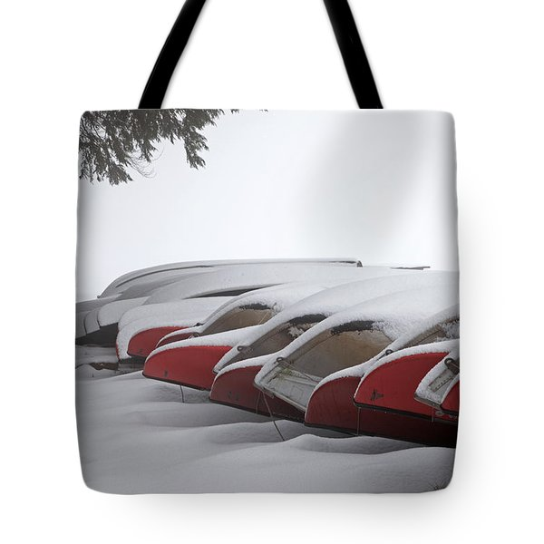 Waiting For Spring Tote Bag by John Stephens