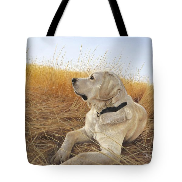 Tote Bag featuring the painting Waiting For The Birds by Tammy Taylor