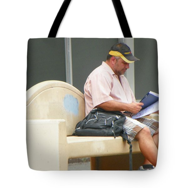 Waiting For The Bus Tote Bag by Lenore Senior