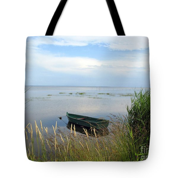 Tote Bag featuring the photograph Waiting For The Nightshift by Ausra Huntington nee Paulauskaite