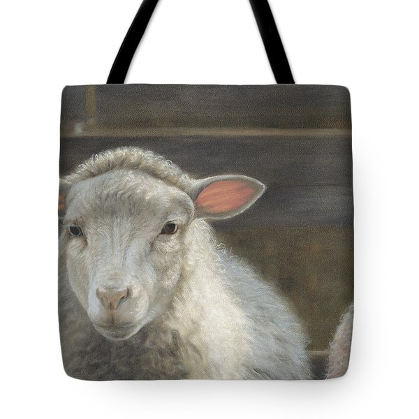 Tote Bag featuring the painting Waiting For The Shepherd by Tammy Taylor