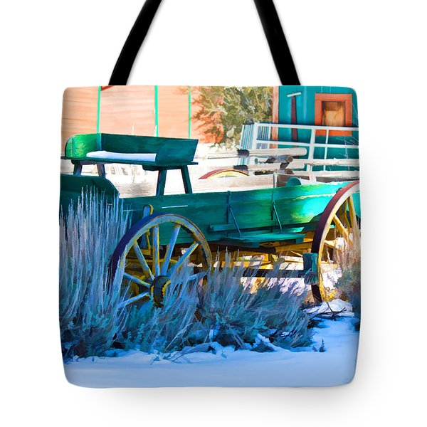 Waiting Wagon Tote Bag