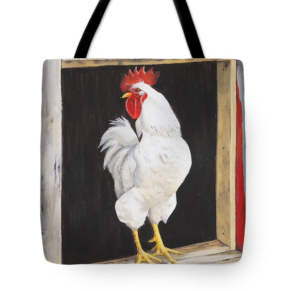 Tote Bag featuring the painting Wake Up Call by Tammy Taylor