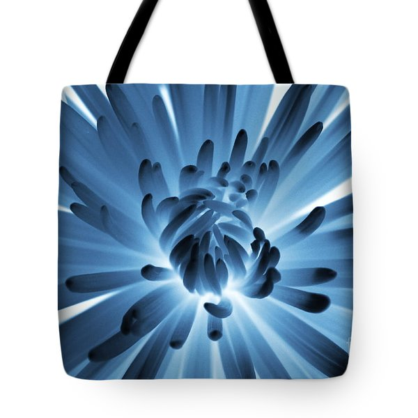 Waking Up In Blue Tote Bag by Carol Groenen
