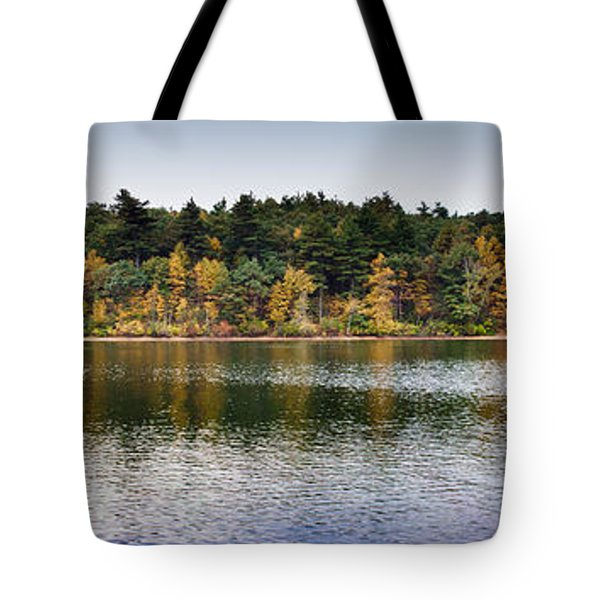 Walden Pond Panorama I Tote Bag by Thomas Marchessault