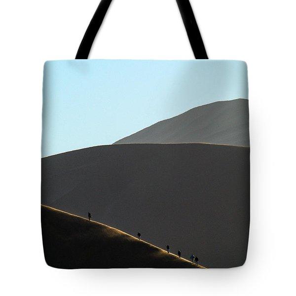 Walk The Edge Tote Bag