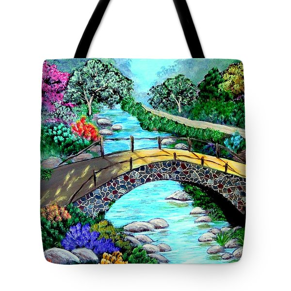Tote Bag featuring the painting Walk With Me by Fram Cama
