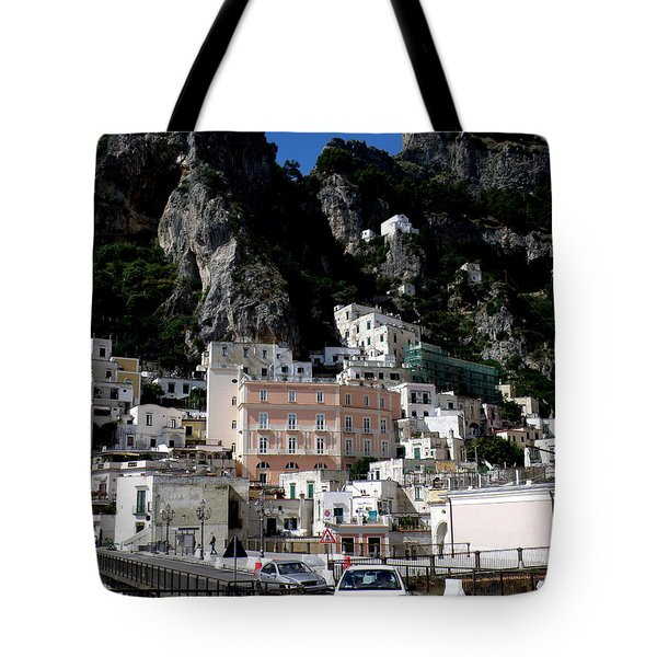 Walking Along The Amalfi Coast  3 Tote Bag by Tanya  Searcy