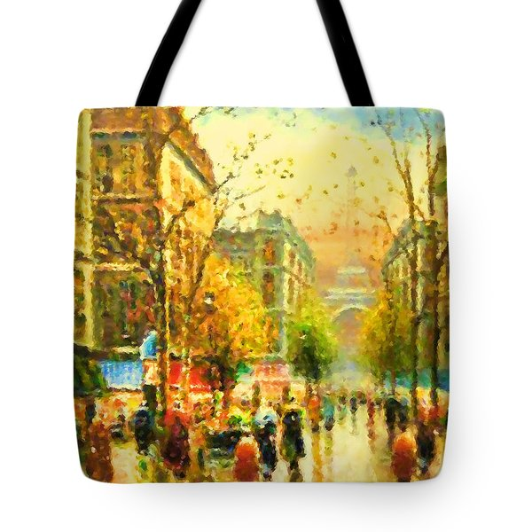 Walking In The Rain Tote Bag
