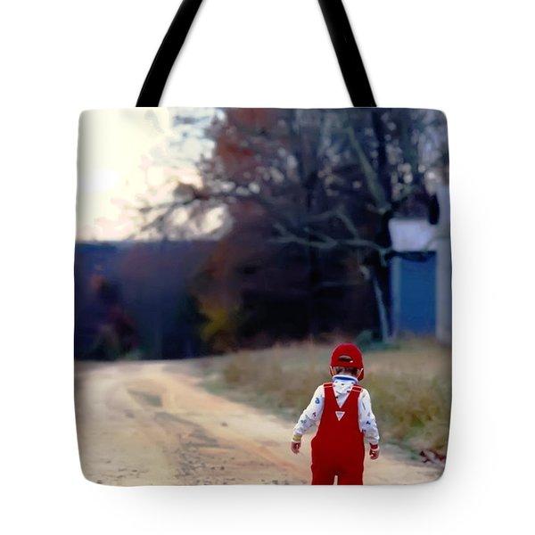 Walking On Pawpaw's Road Tote Bag