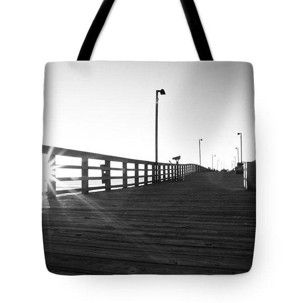 Walking The Planks Sunrise Tote Bag by Betsy Knapp