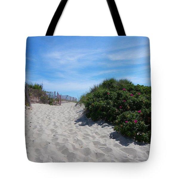 Walking Through The Dunes Tote Bag