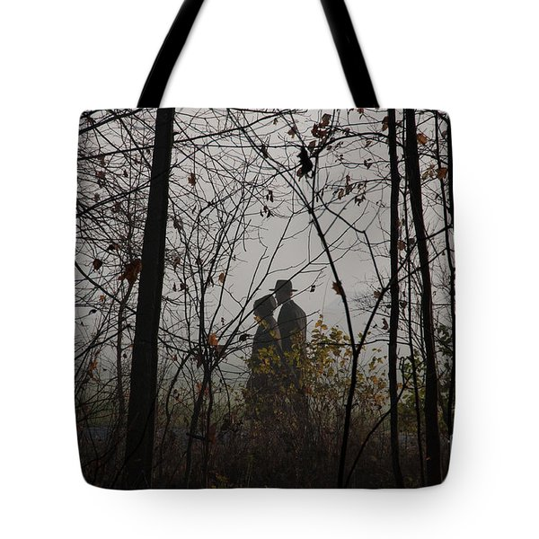 Walking To Church Tote Bag