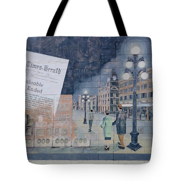 Wall Art Moose Jaw 2 Tote Bag by Bob Christopher
