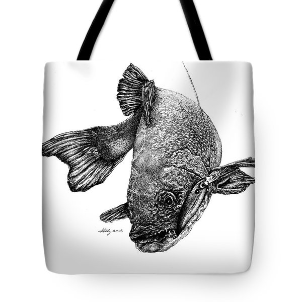 Walleye Tote Bag by Kathleen Kelly Thompson
