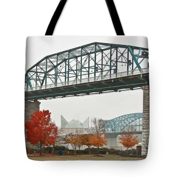 Walnut Street Bridge Tote Bag by Tom and Pat Cory