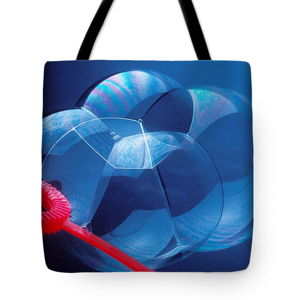 Wand Making Bubbles Tote Bag by Garry Gay