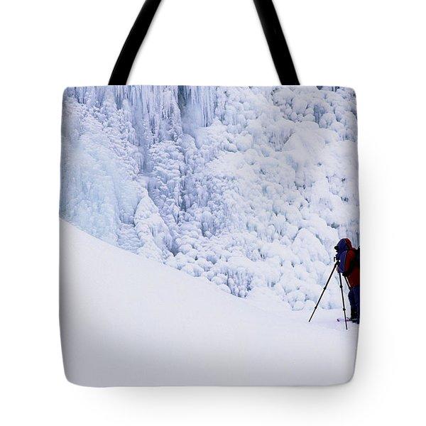 Wapta Falls Tote Bag by Bob Christopher
