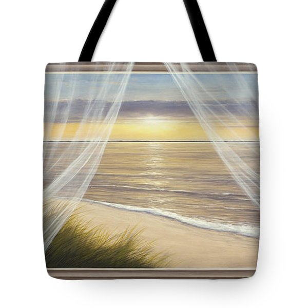 Warm Breeze Panoramic View Tote Bag