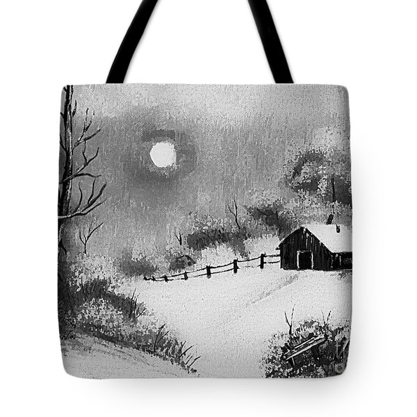 Warm Day  B And W Tote Bag by Barbara Griffin