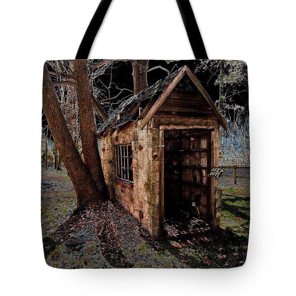Warned Tote Bag by Cindy Roesinger