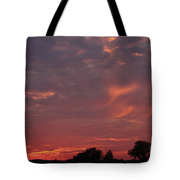 Warwickshire Sunset Tote Bag by Linsey Williams