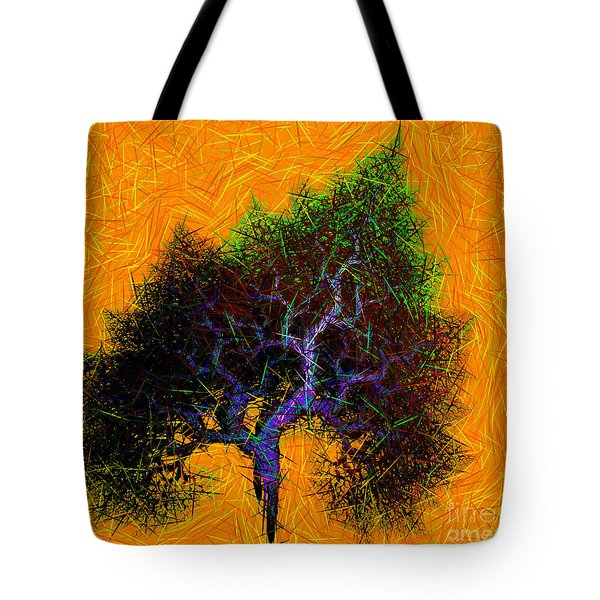 Was A Crooked Tree  Grunge Art Tote Bag