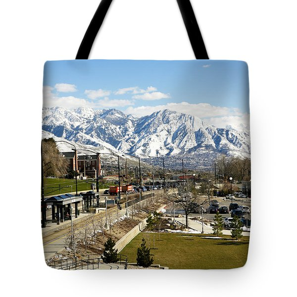 Wasatch Mountain Range Tote Bag by Marilyn Hunt
