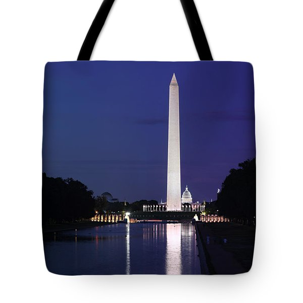 Washington Monument At Sunset Tote Bag