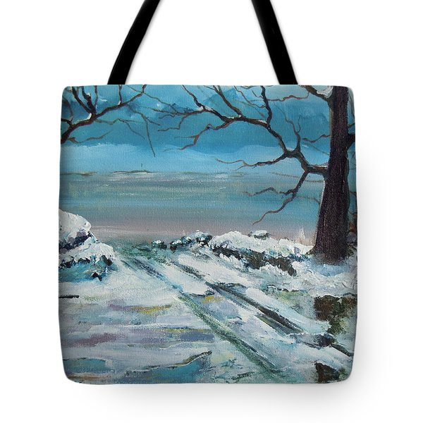 Washoe Winter Tote Bag by Dan Whittemore