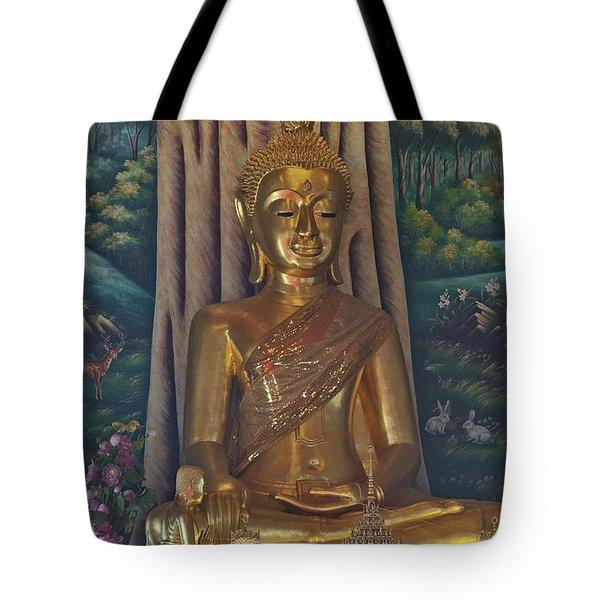 Wat Kaewjamfa Ubosot Principal Buddha Dthb1072 Tote Bag