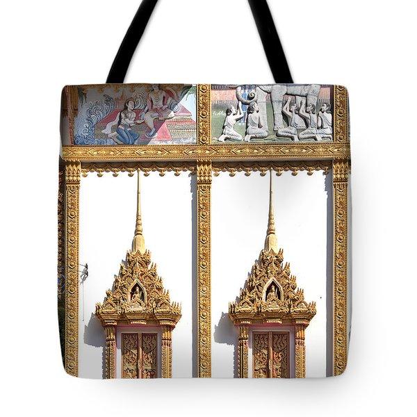 Wat Kan Luang Ubosot Windows Dthu189 Tote Bag by Gerry Gantt