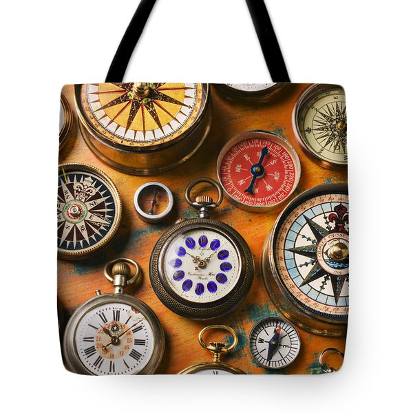 Watches And Compasses  Tote Bag by Garry Gay