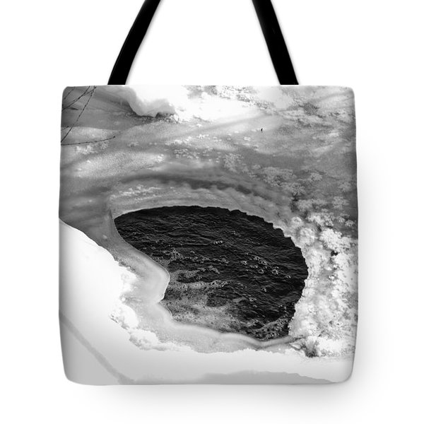 Water And Ice Tote Bag by Michael Goyberg
