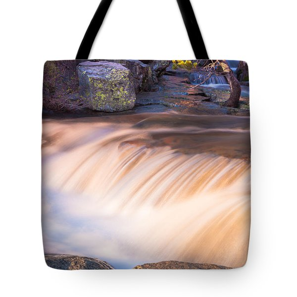 Water And Rocks Tote Bag by Marc Crumpler