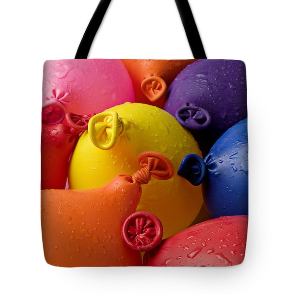 Water Balloons Tote Bag by Garry Gay