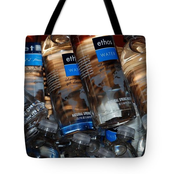 Water Bottles Tote Bag by Rob Hans