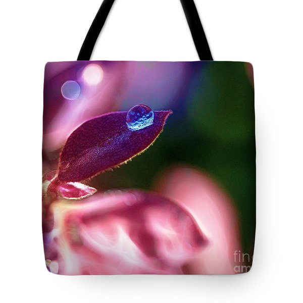 Water Drop Tote Bag by Judi Bagwell