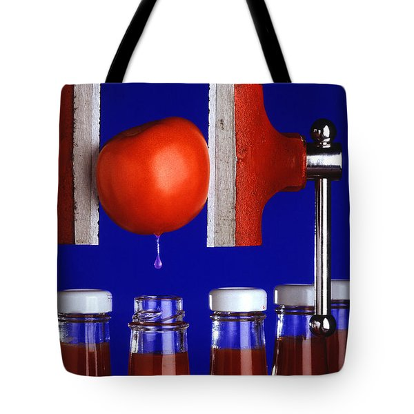 Water Extraction From Tomato Tote Bag by Photo Researchers