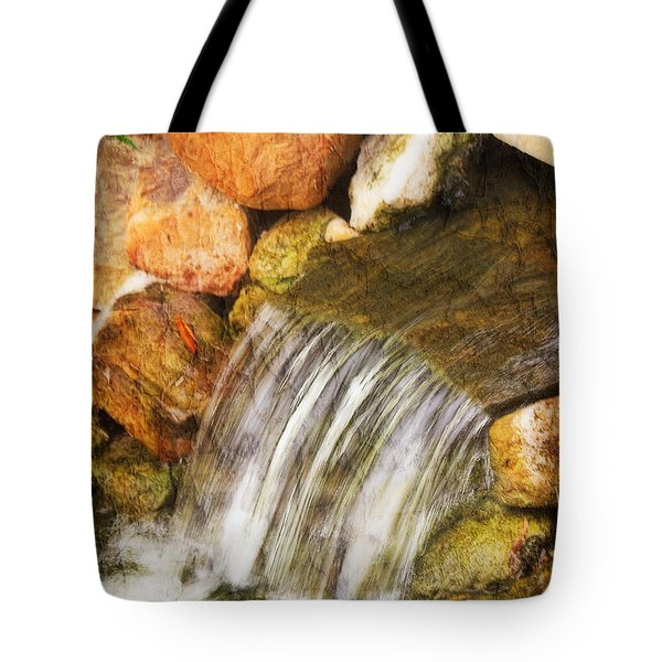 Tote Bag featuring the photograph Water Fall by Joan Bertucci