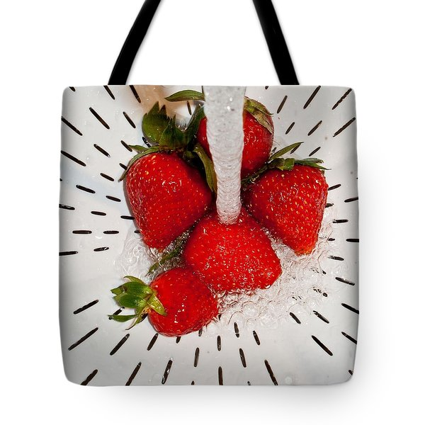 Tote Bag featuring the photograph Water For Strawberries by David Pantuso