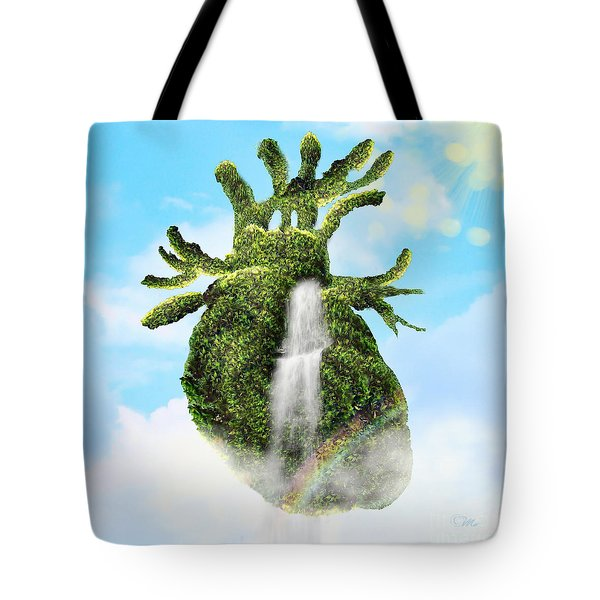 Water From The Heart Tote Bag by Mo T