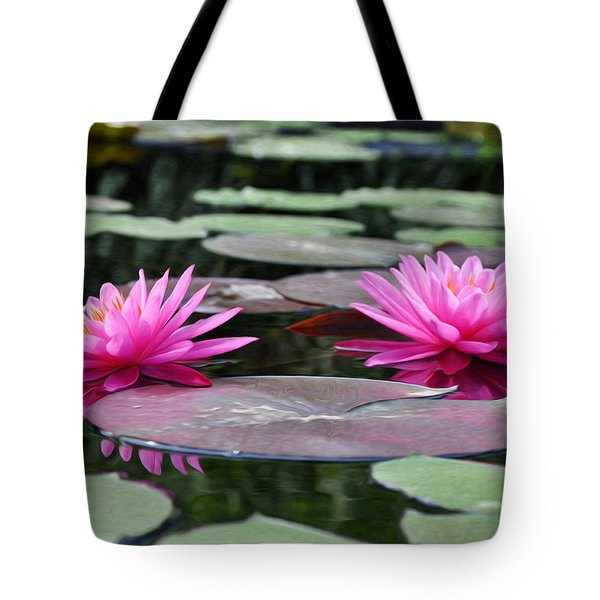 Water Lilies Tote Bag by Bill Cannon