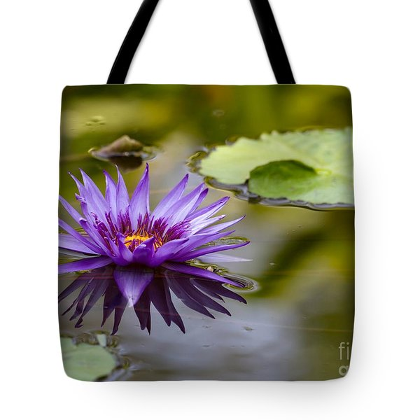 Water Lily Kissing The Water Tote Bag by Sabrina L Ryan