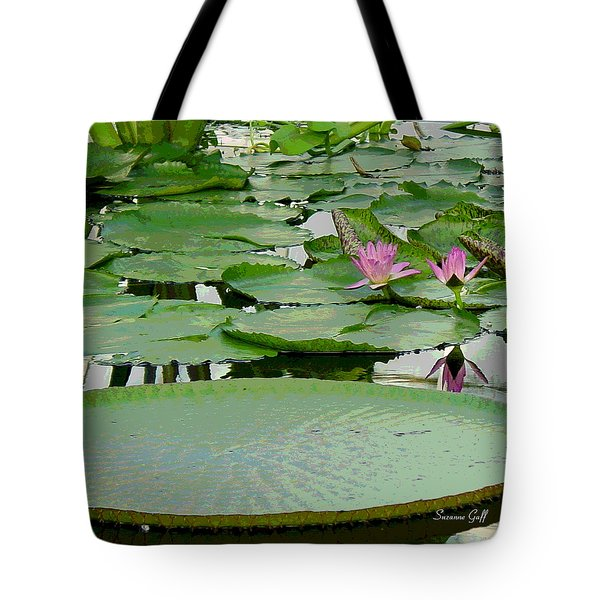 Water Lily Land IIi Tote Bag by Suzanne Gaff