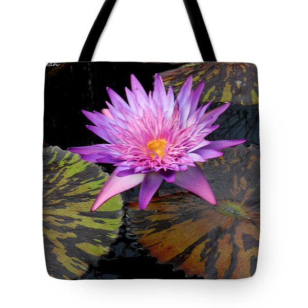 Water Lily Magic Tote Bag