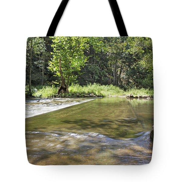 Water Over The Bridge Tote Bag