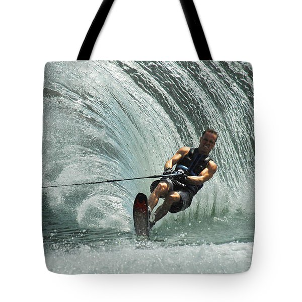 Water Skiing Magic Of Water 10 Tote Bag by Bob Christopher