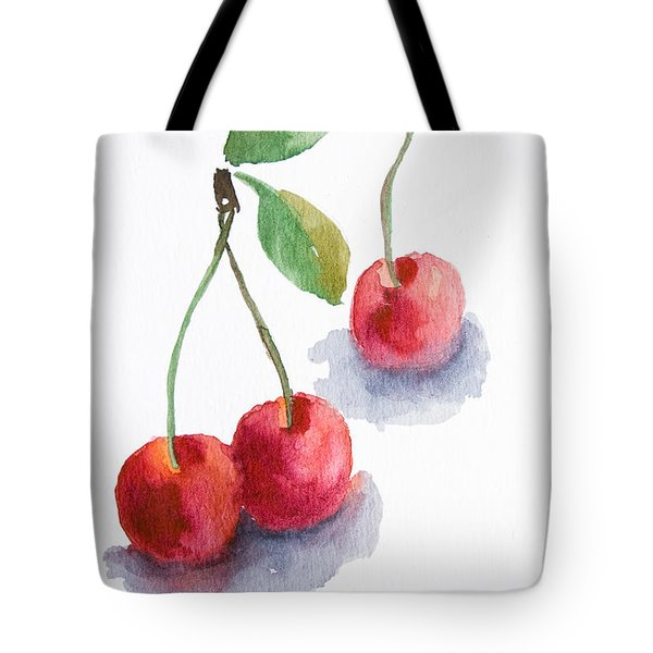 Watercolor Cherry  Tote Bag